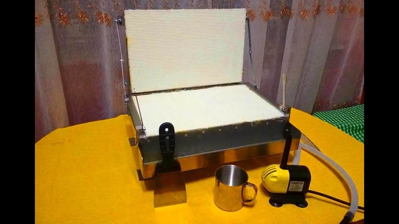 Пресс для изготовления вощины с водяным охлаждением
