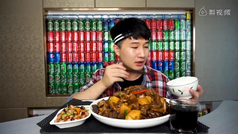经典东北菜,铁锅炖大鹅