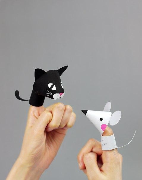 Забавные животные: пальчиковые куклы из бумаги… (8 фото) - картинка
