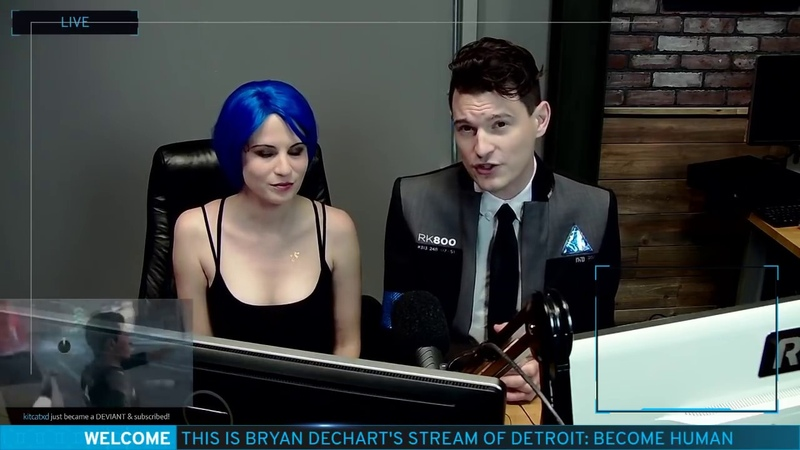 Bryan Dechart Connor's actor plays Detroit Become Human Stream 5 Final Chapters