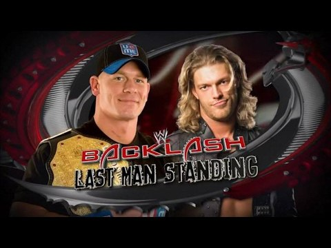 WWE Backlash 2009 - FULL SHOW : John Cena vs Edge in Last Man Standing