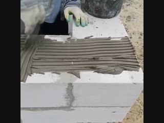 Монтируем угол из пеноблока - Строим дом своими руками