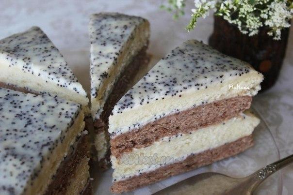 Быстрый сметанный торт со сметанным кремом