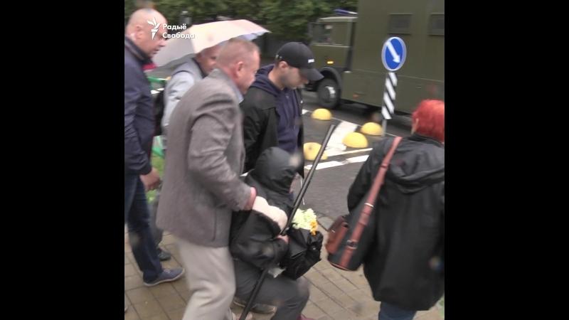 Брутальныя затрыманьні на акцыі Статкевіча ў Менску