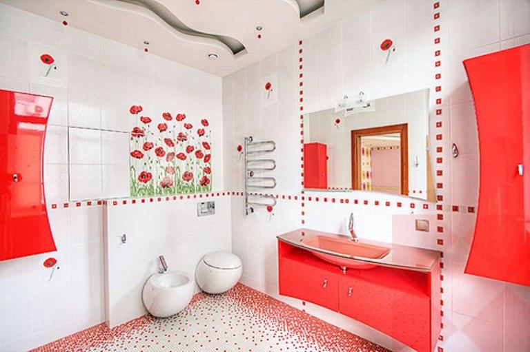 Дизайн ванной комнаты в коттедже фото
