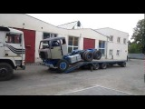 Volvo F89 loading on to trailer