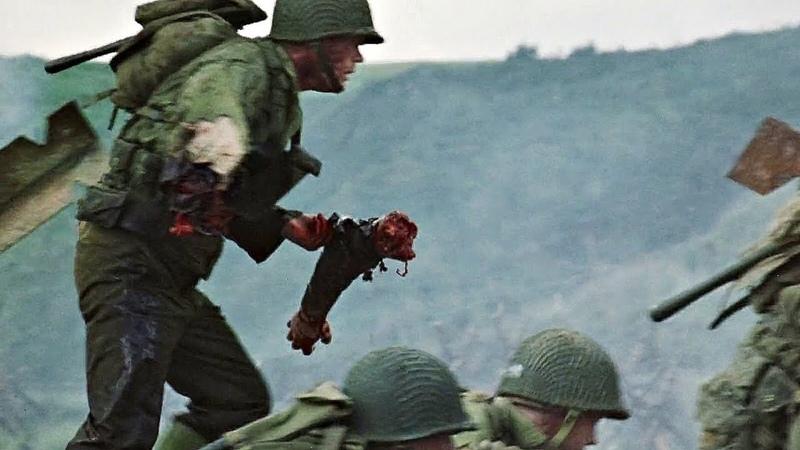 Ужасы Войны. Высадка в Нормандии (Омаха-Бич). Спасти рядового Райана. 1998