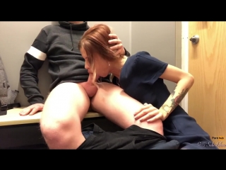 Teen sloppy blowjob, oral creampie, swallows cum - freya stein
