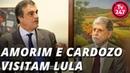 Celso Amorim e Eduardo Cardozo relatam visita a Lula