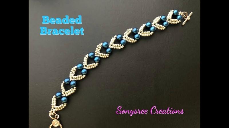 Lovely Hearts Bracelet. DIY Beaded Bracelet. How to make beaded Bracelet 💞