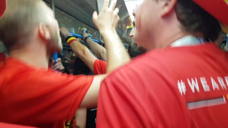 После матча в метро