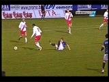 Horrible leg-breaking soccer injury in Bosnia 4/10/2013 Nermin Zolotic