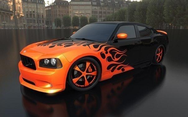 Оформление дизайна машины.