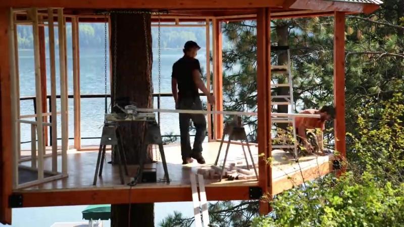 Постройка дома на дереве | Таймлапс