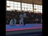 Отличный Мае-гери дзёдан с ближней дистанции в Кёкусинкай карате. Подготовка бойца http://vk.com/oyama_mas