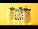 JAUNE by Carte Noire Espumas de mangue au caviar de café