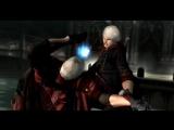 Nero punching Dante