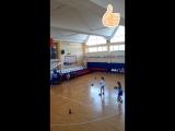 Победитель среди девушек по броскам мяча в корзину со средней дистанции из 25 бросков - 20 забитых мячей! Баскетбольный лагерь «