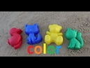 Learn colors with kids funny animals cat duck bear