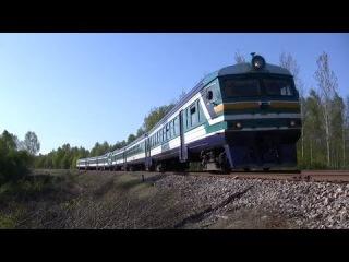 Двойной дизель-поезд ДР1А ближ ст. Тюри / Double DR1A DMU near Türi station