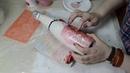 Декупаж. Бутылка шампанского. Декор для новорожденной девочки