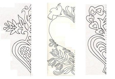 Ажурные открытки, вытанки