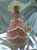 """И фактура ,,ткани """" интересна, и воланы на платье прекрасно смотрятся!  Торты, украшенные кремом (2)."""
