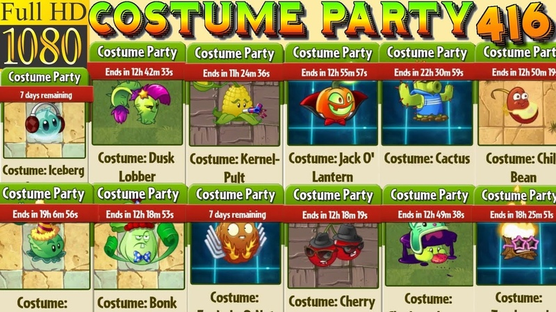 Plants vs. Zombies 2 - COSTUME PARTY - 160 plant costumes - Costumes prices (Ep.416)
