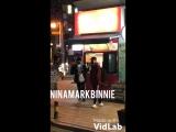 фанкам 180321 Уджин и Ли Ноу у здания JYPE