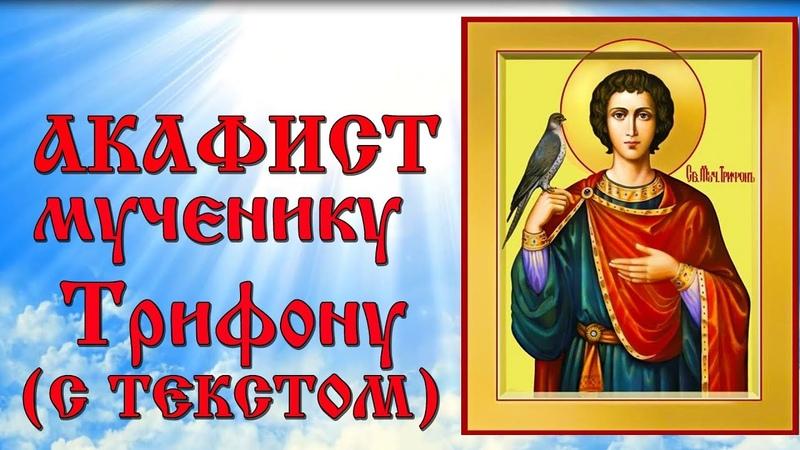 Акафист святому мученику Трифону аудио молитва с текстом и иконами
