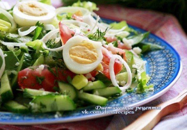 Овощной салат с яйцом рецепт