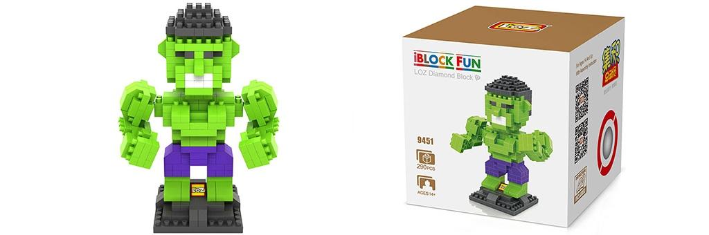 """Конструктор LOZ Diamond Block iBlock Fun """"Халк"""" 9451"""