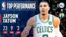 Jayson Tatum Drops An Efficient 23 Points | 2018-2019 NBA Opening Night