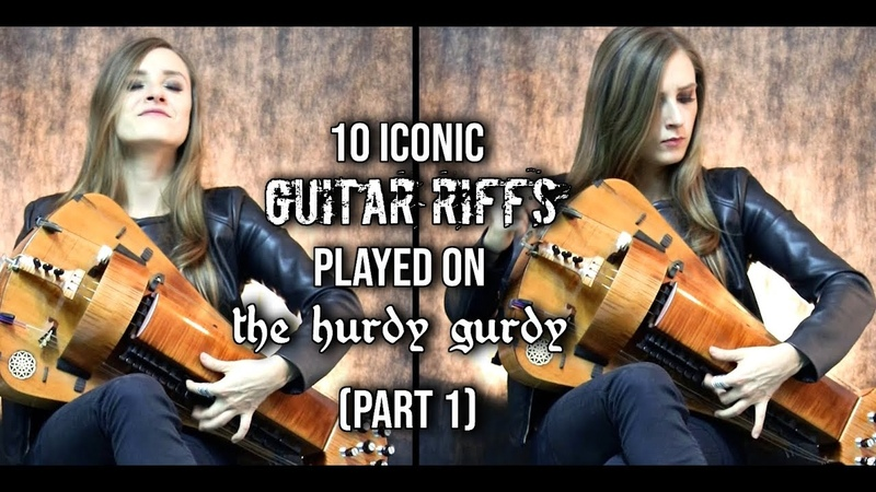 10 Iconic Guitar Riffs Played On The Hurdy Gurdy PART 1 (10k SUBSCRIBERS WIN HELVETION MERCH!)