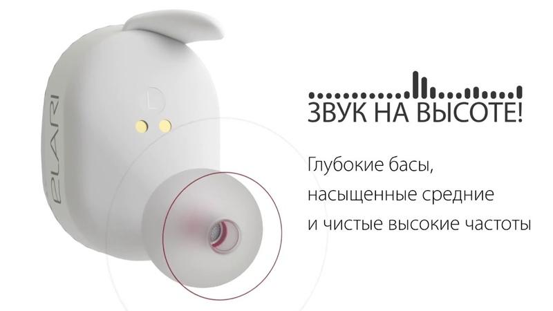 Elari NanoPods: беспроводные Hi-Fi стереонаушники с микрофоном и магнитным зарядным кейсом
