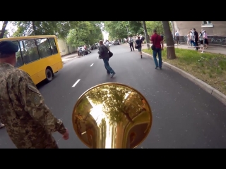 Взгляд трубача на 9 мая 2018 года в г. Сумы, Украина