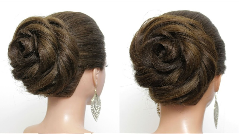 New Bun Hairstyle with Trick For Wedding Party. Easy Updo Tutorial