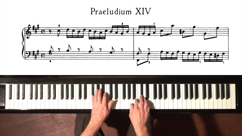 Bach Prelude and Fugue No.14 Well Tempered Clavier, Book 1 with Harmonic Pedal