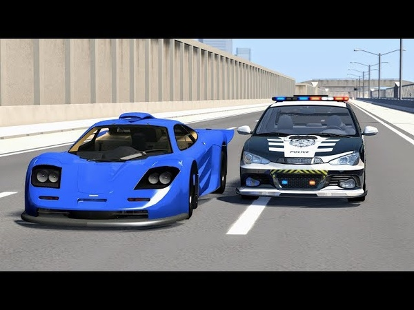 Crazy Police Chases 18 - BeamNG Drive Crashes