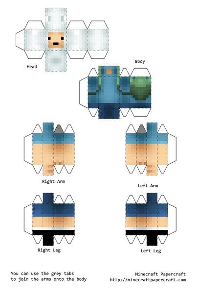 майнкрафт из бумаги схемы распечатать скины блоки и животные схемы