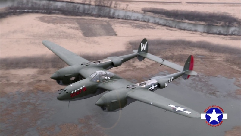 Fagen Fighters WWII Museum P-38 In Action