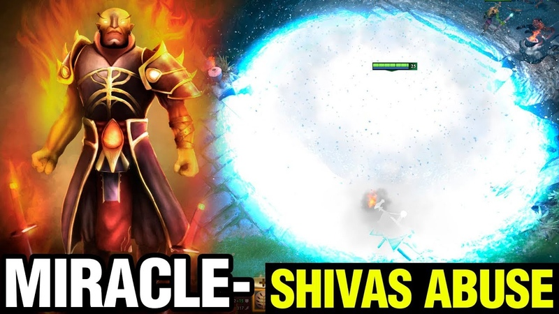 Shivas Abuse Is Completely Insane - Miracle- Ember Spirit 7.17 Patch - Dota 2