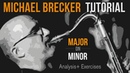 Michael Brecker Major on Minor Tutorial Analysis exercises