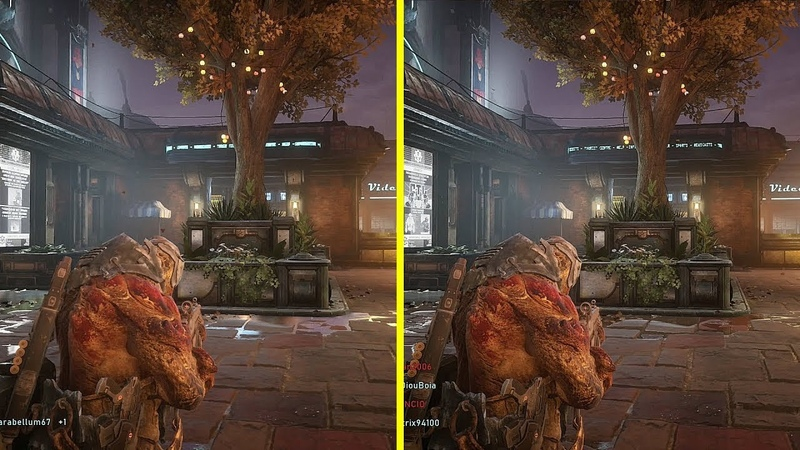 Gears 5 Xbox One S vs Xbox One X - District Map Graphics Comparison