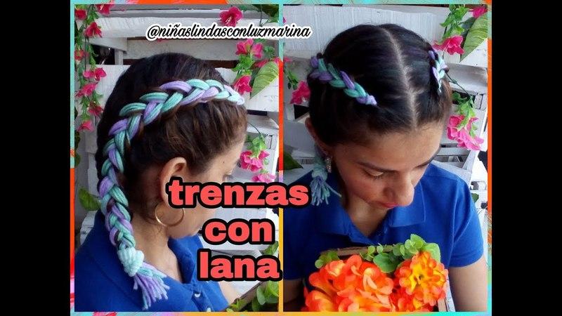 TRENZAS CON LANA/BOXEADORAS/PASO A PASO/FACIL