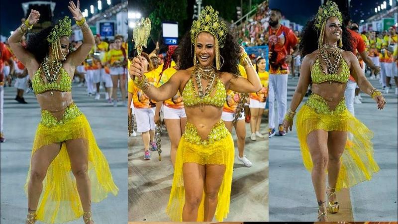 Viviane Araújo brilha em ensaio de Carnaval do Salgueiro