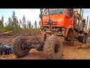 Лесовозы на Бездорожье Работа водителей лесовозов в тяжёлых условиях