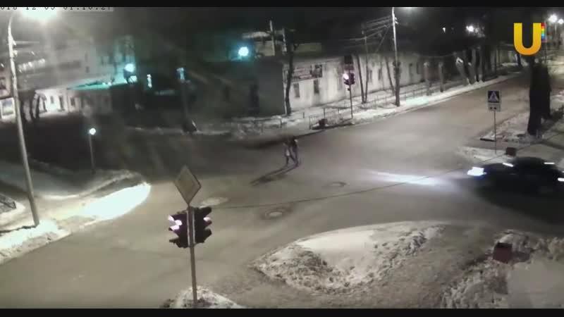 5 декабря 2018 г. перекрёсток ул. Нахимова Дружба (г. Стерлитамак)
