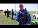 Как проходят съемки прыжков с парашютом.