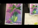 3 Букет сирени, как нарисовать цветы ГУАШЬ Мастер-класс Anurisui